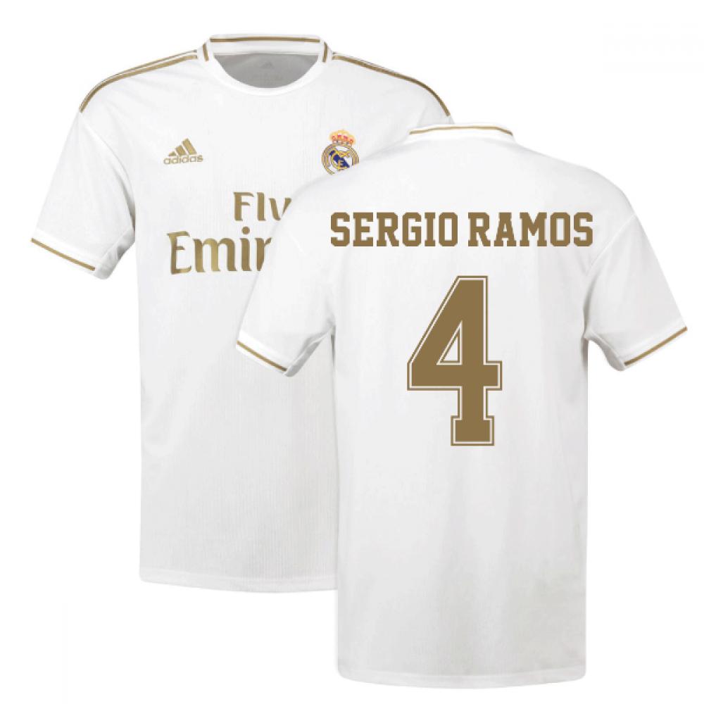 factory price 56775 c6405 2019-2020 Real Madrid Adidas Home Shirt (Kids) (SERGIO RAMOS 4)