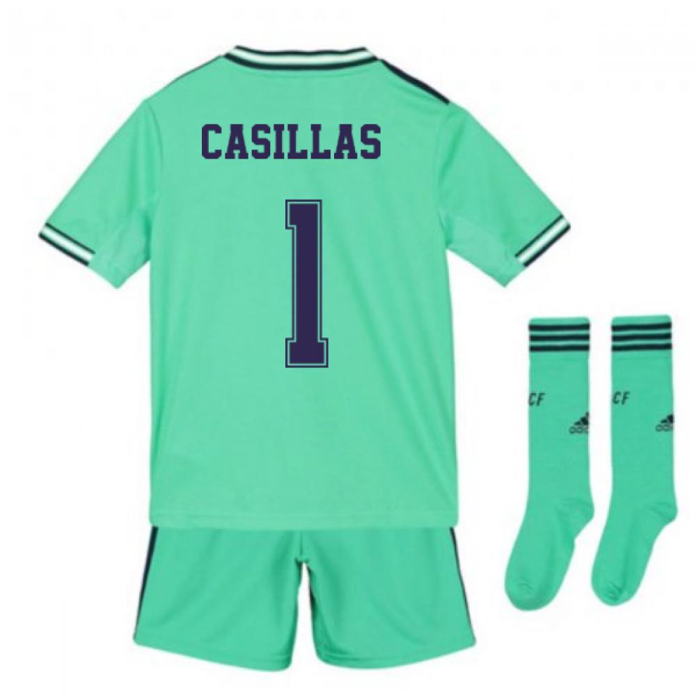 Zweite und dritte Ausr/üstung offizielles Produkt Set 3 Body Real Madrid f/ür Kinder Erste Saison 2018//2019
