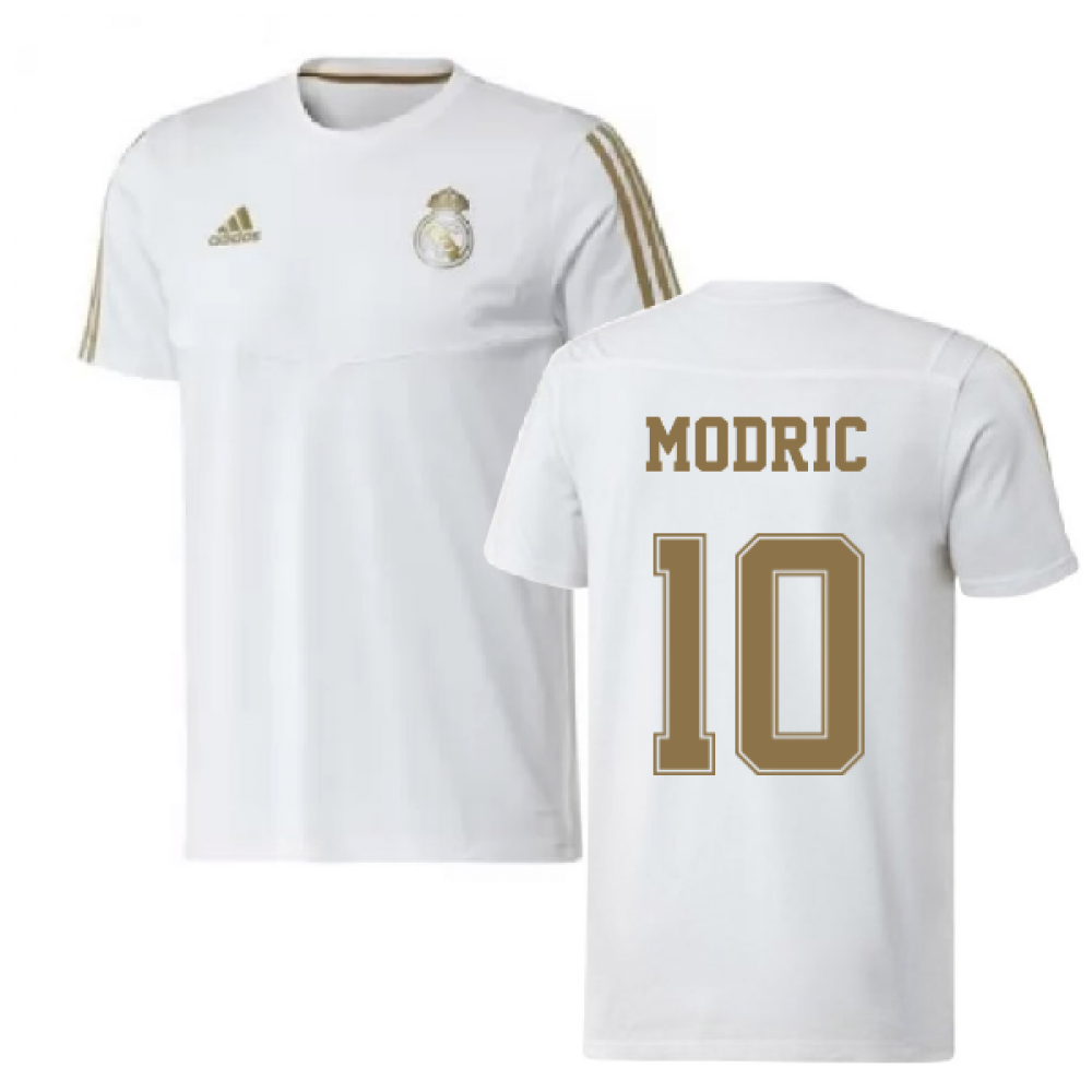 premium selection 2f992 3f3cb 2019-2020 Real Madrid Adidas Training Tee (White) (MODRIC 10)