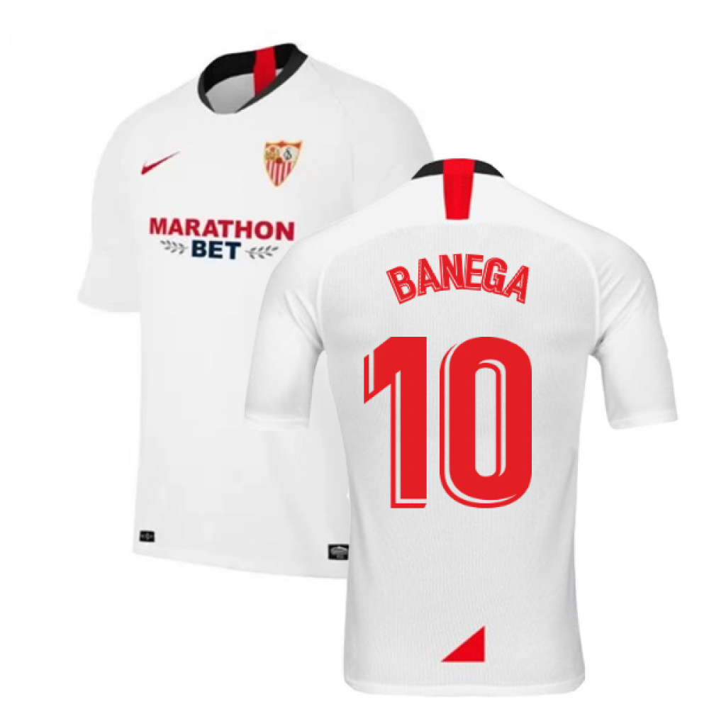 2019-2020 Sevilla Home Nike Football Shirt (BANEGA 10)