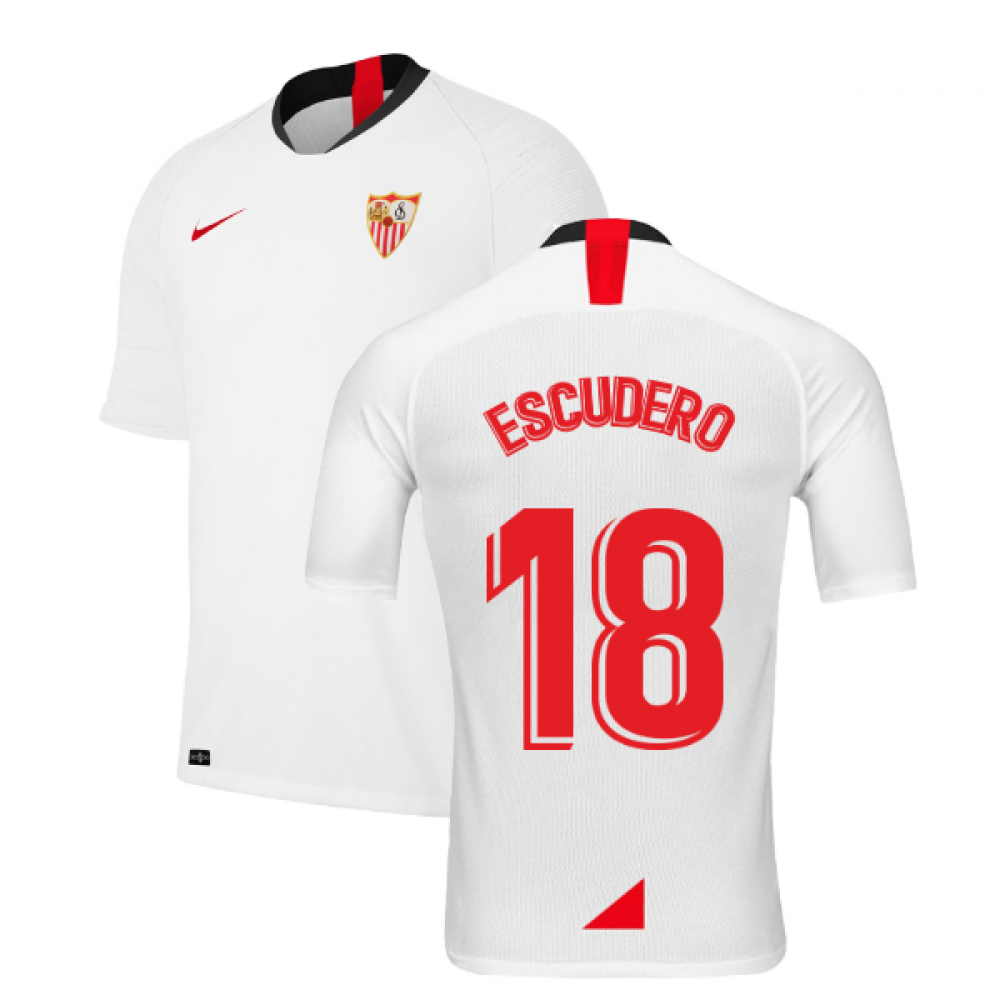 2019-2020 Sevilla Home Shirt (Kids) (ESCUDERO 18)