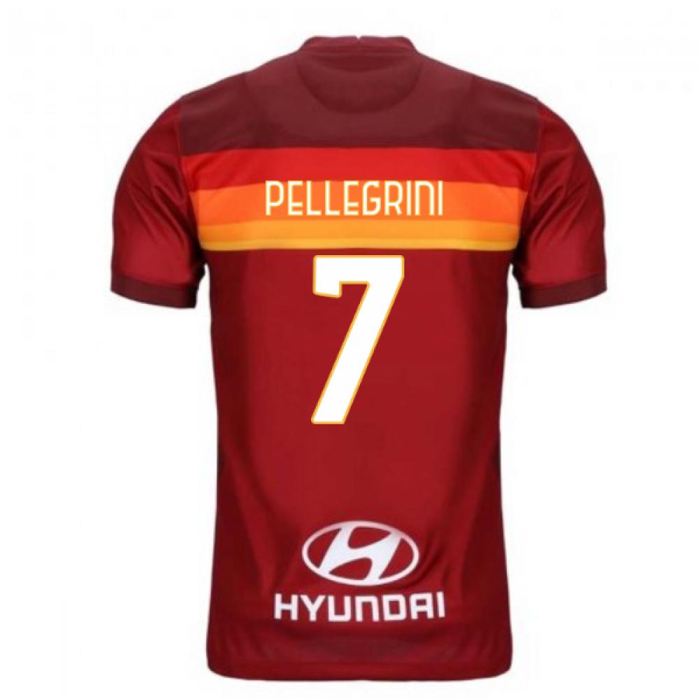 2020-2021 AS Roma Home Nike Football Shirt (Kids) (PELLEGRINI 7)