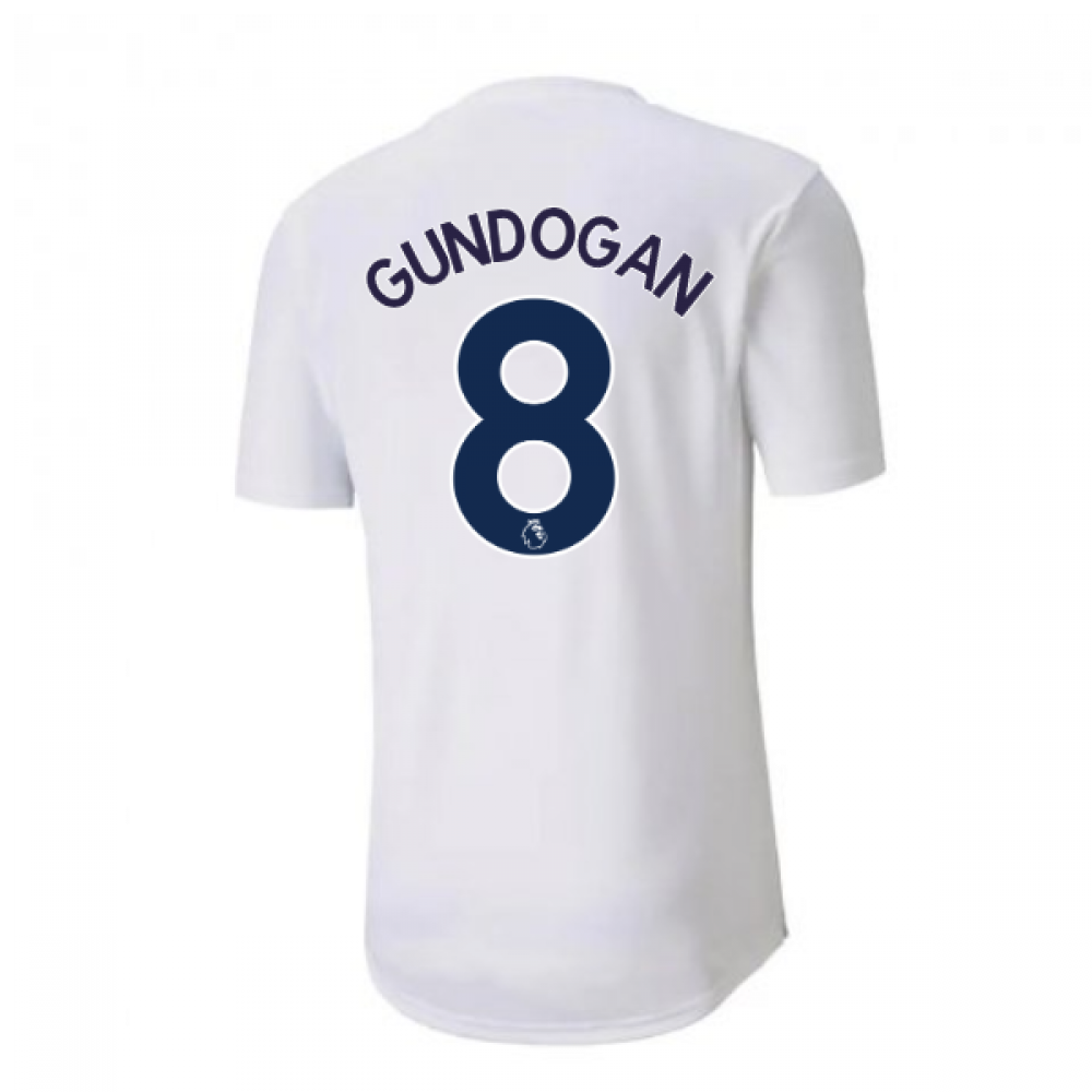 2020-2021 Manchester City Puma Stadium Jersey (White) - Kids (GUNDOGAN 8)