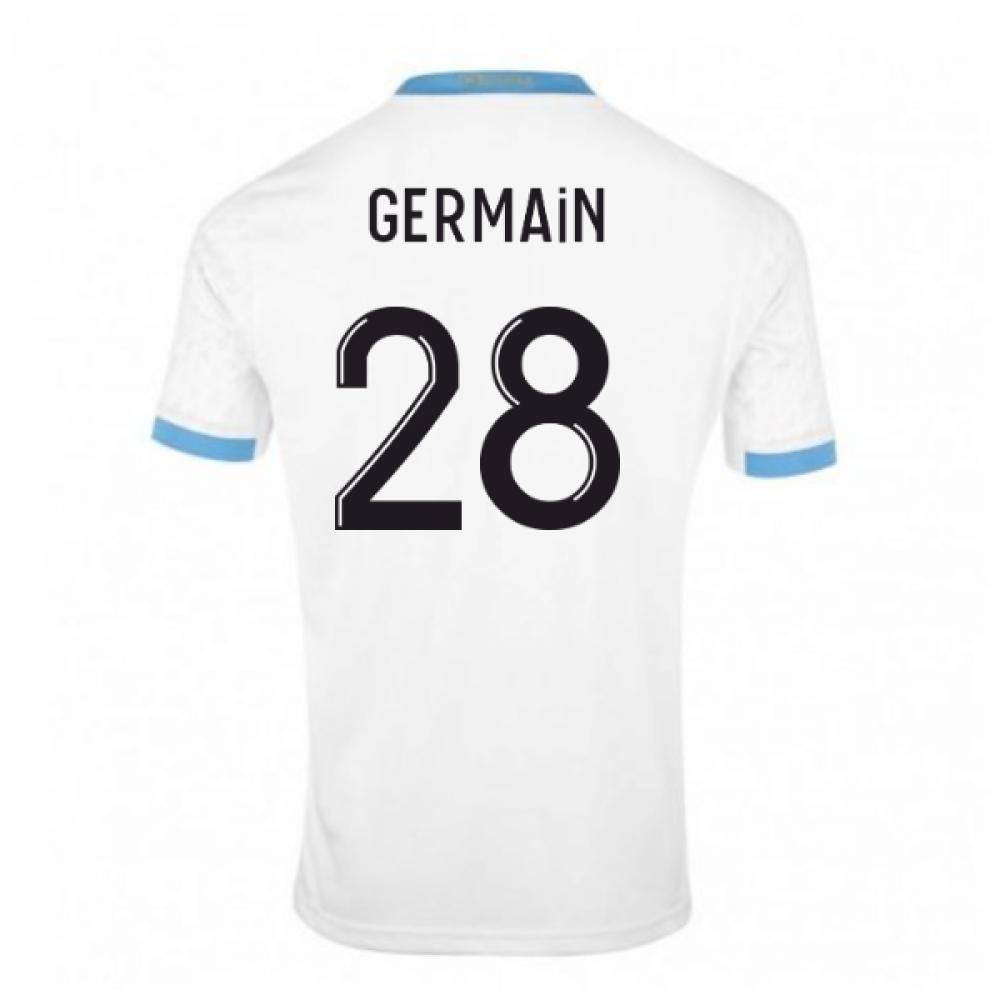 2020-2021 Olympique Marseille Puma Home Football Shirt (GERMAIN 28)