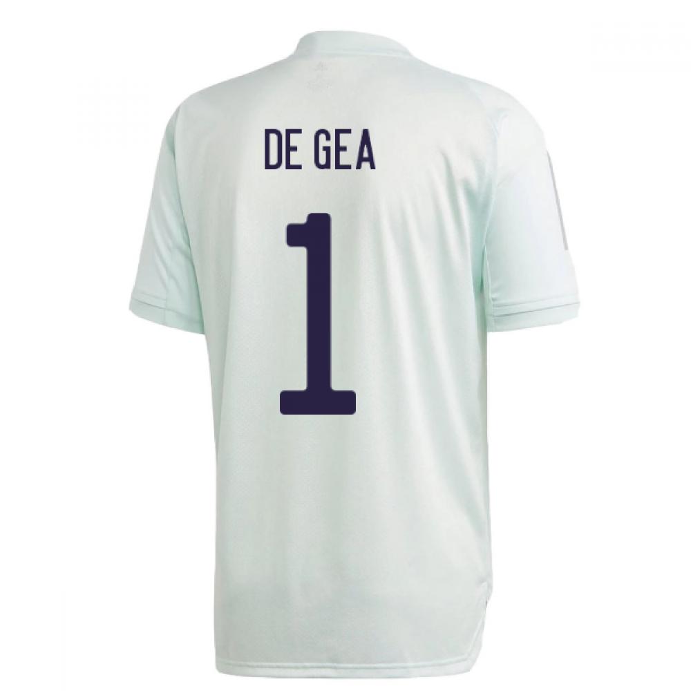 2020-2021 Spain Adidas Training Jersey (Dash Green) (DE GEA 1)