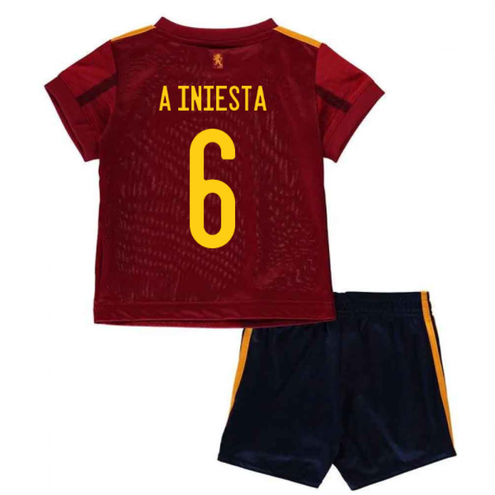 2020-2021 Spain Home Adidas Baby Kit (A INIESTA 6)