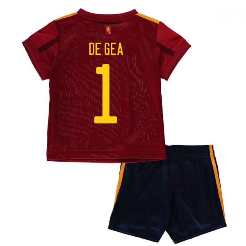 2020-2021 Spain Home Adidas Baby Kit (DE GEA 1)
