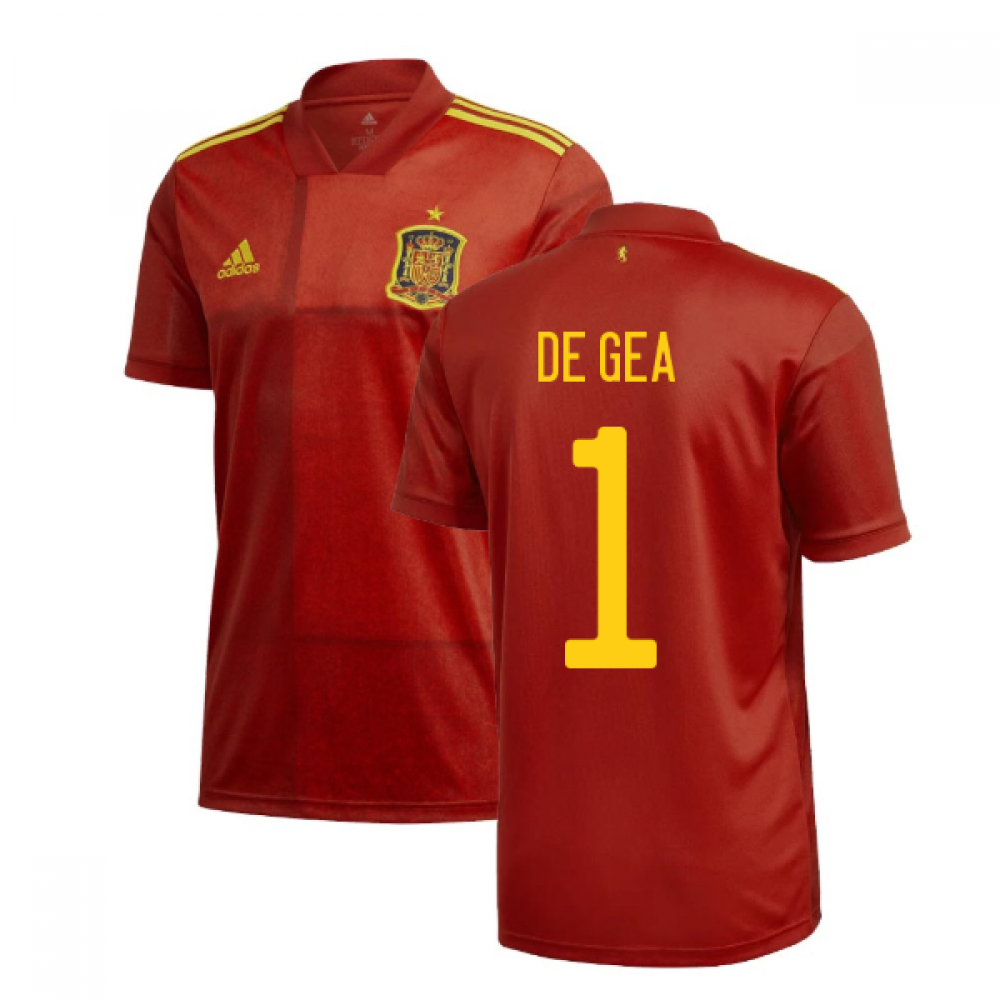 2020-2021 Spain Home Adidas Football Shirt (DE GEA 1)