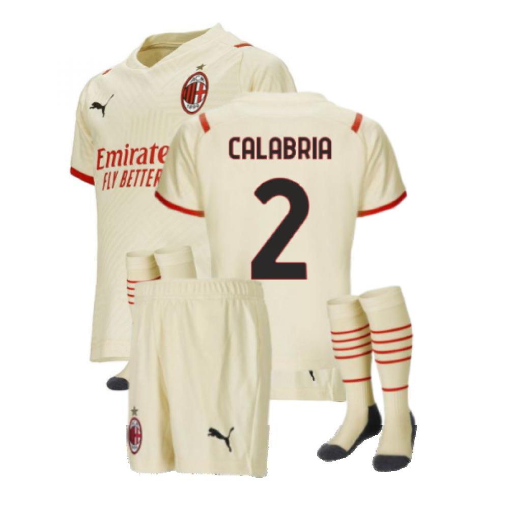 2021-2022 AC Milan Away Mini Kit (CALABRIA 2)