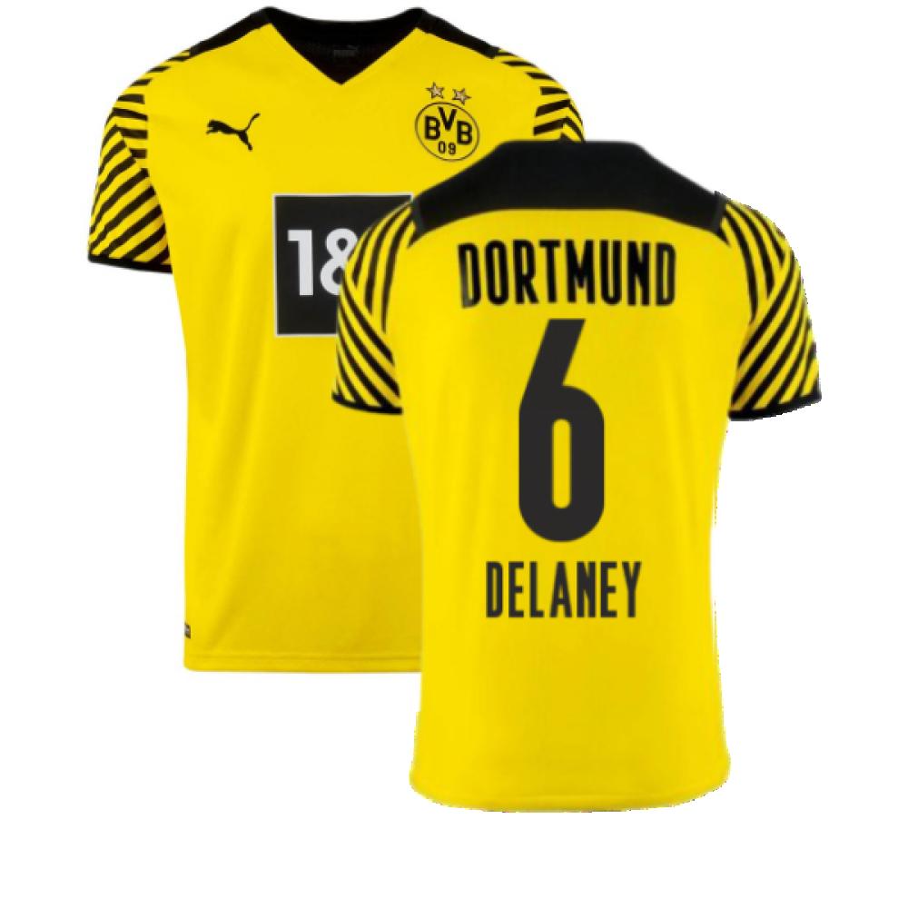 2021-2022 Borussia Dortmund Home Shirt (DELANEY 6)