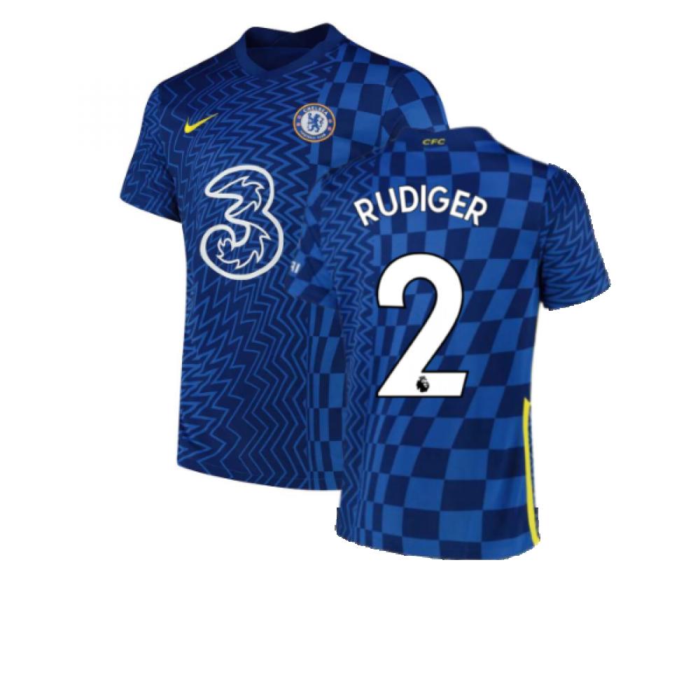 2021-2022 Chelsea Home Shirt (RUDIGER 2)
