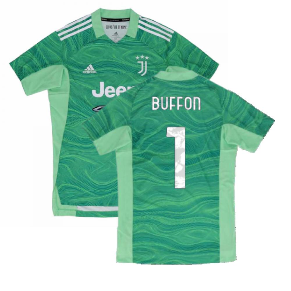 2021-2022 Juventus Home Goalkeeper Shirt (Lime) - Kids (BUFFON 1)