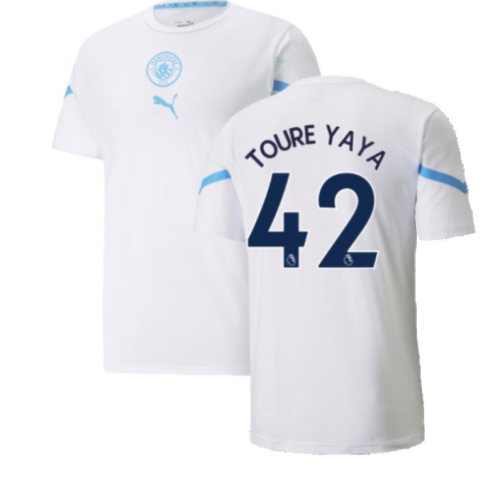 2021 2022 Man City Pre Match Jersey White Toure Yaya 42 76450404 221407 83 37 Teamzo Com