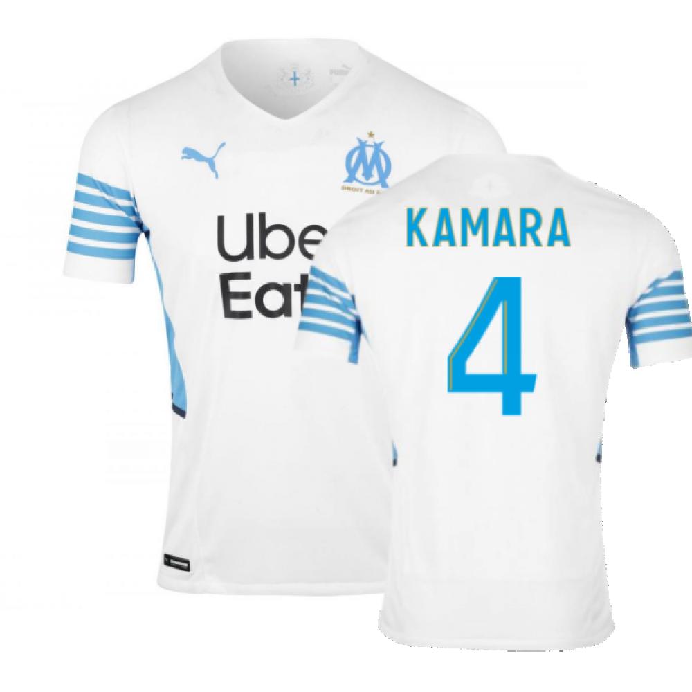 2021-2022 Marseille Authentic Home Shirt (KAMARA 4)