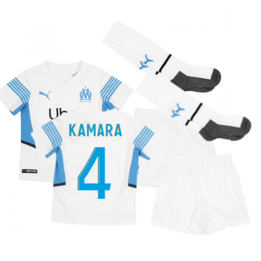 2021-2022 Marseille Home Mini Kit (KAMARA 4)