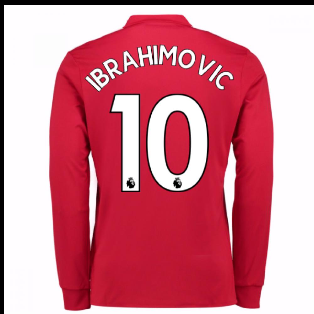 save off e29f0 2bc64 20Ibrahimovic 107-20Ibrahimovic 108 Man United Long Sleeve Home Shirt  (Ibrahimovic 10)