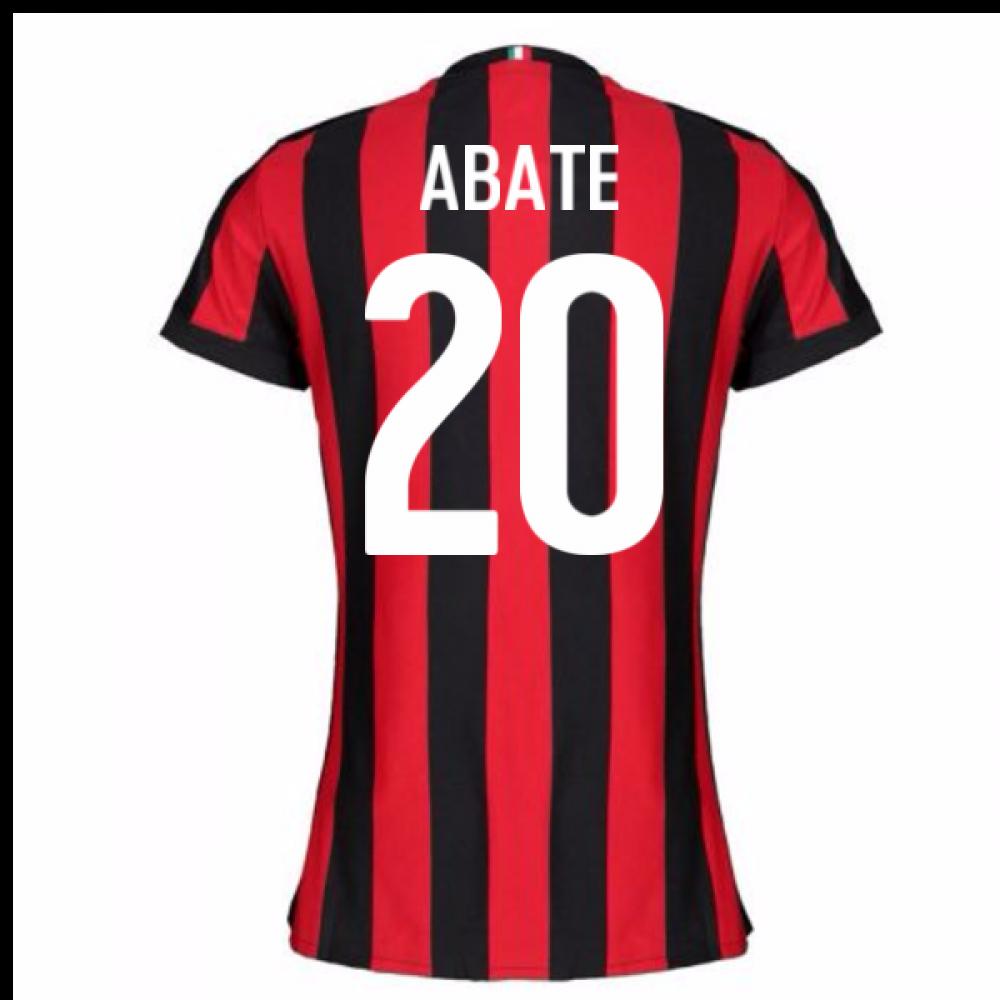 2017-2018 AC Milan Womens Home Shirt (Abate 20)