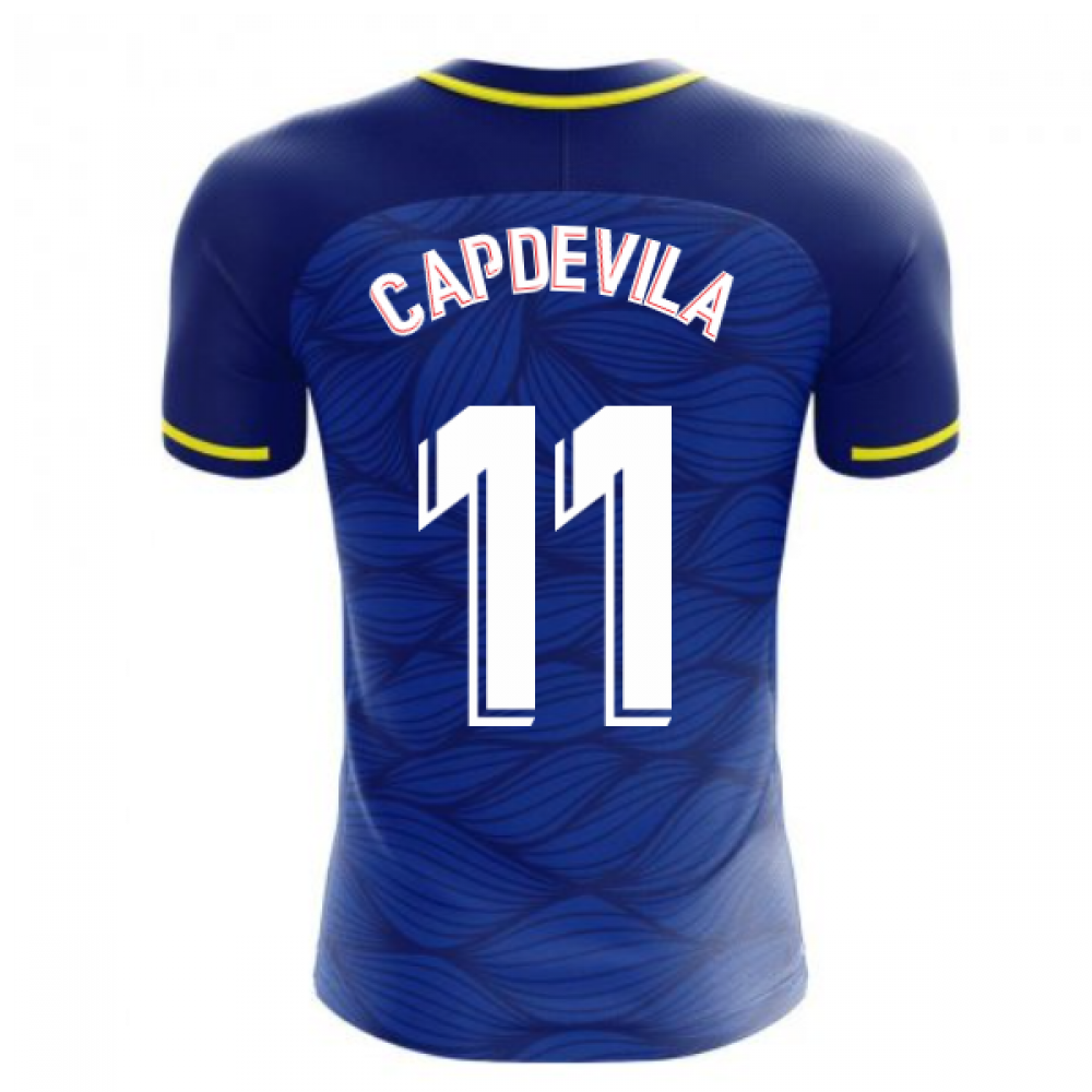 Villarreal 2020-2021 Away Concept Football Kit (Libero) (CAPDEVILA 11)
