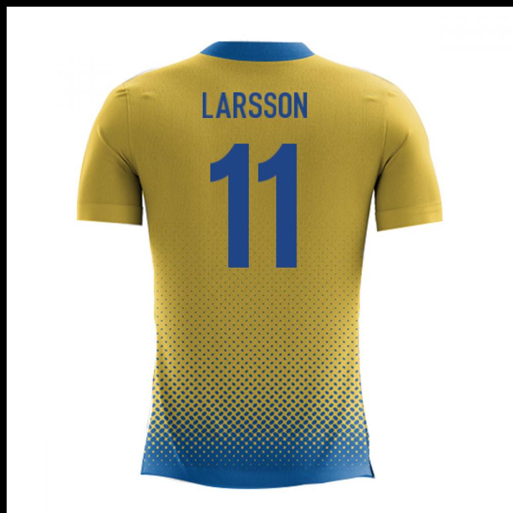 5552907e0 2018-2019 Sweden Airo Concept Home Shirt (Larsson 11)  SWEDENH ...