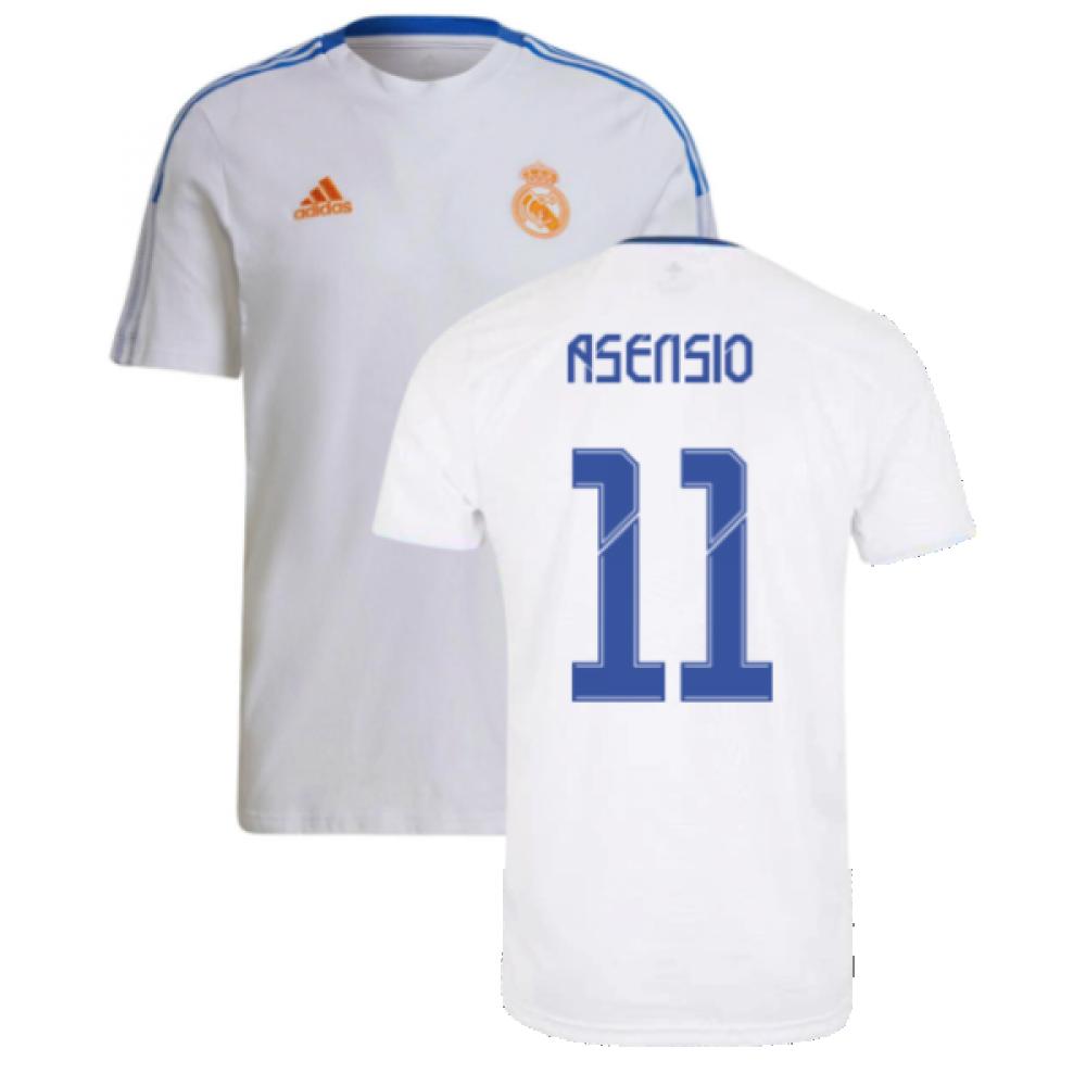Real Madrid 2021 2022 Training Tee White Asensio 11 Gu9711 215357 59 15 Teamzo Com