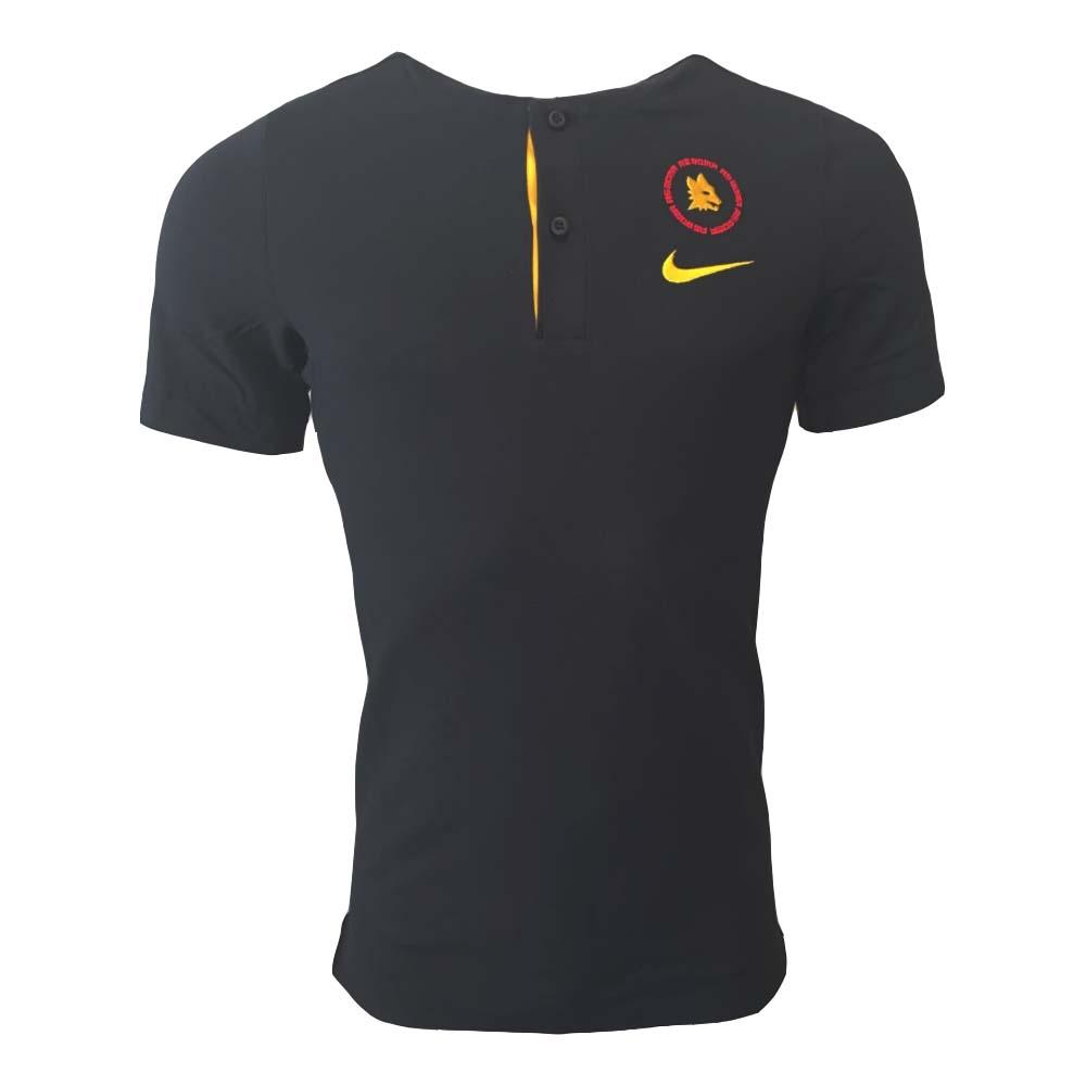 2020-2021 Roma Authentic Polo Shirt (Black)