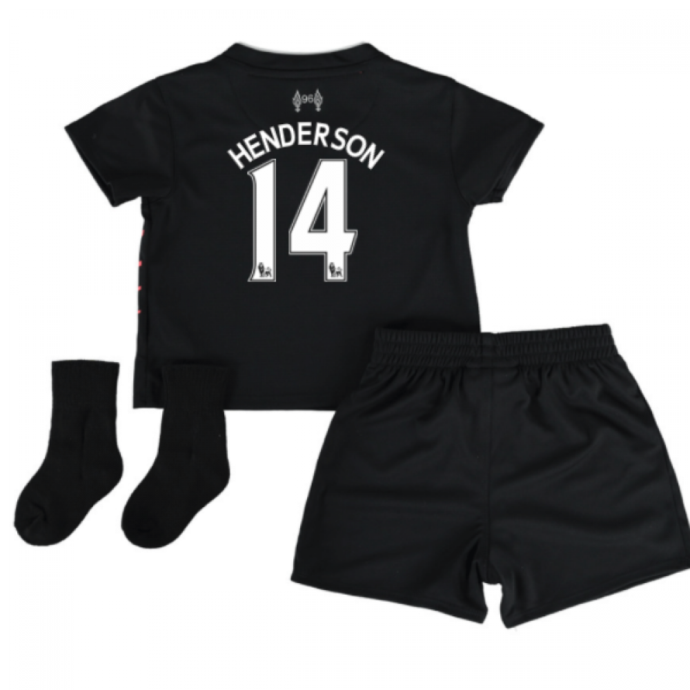 Liverpool Kit History 14: 2016-17 Liverpool Away Baby Kit (Henderson 14) [BY630002