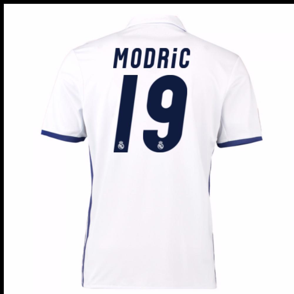 3bd9d478f 2016-17 Real Madrid Home Shirt (Modric 19) [S94992-80001] - $76.13  Teamzo.com