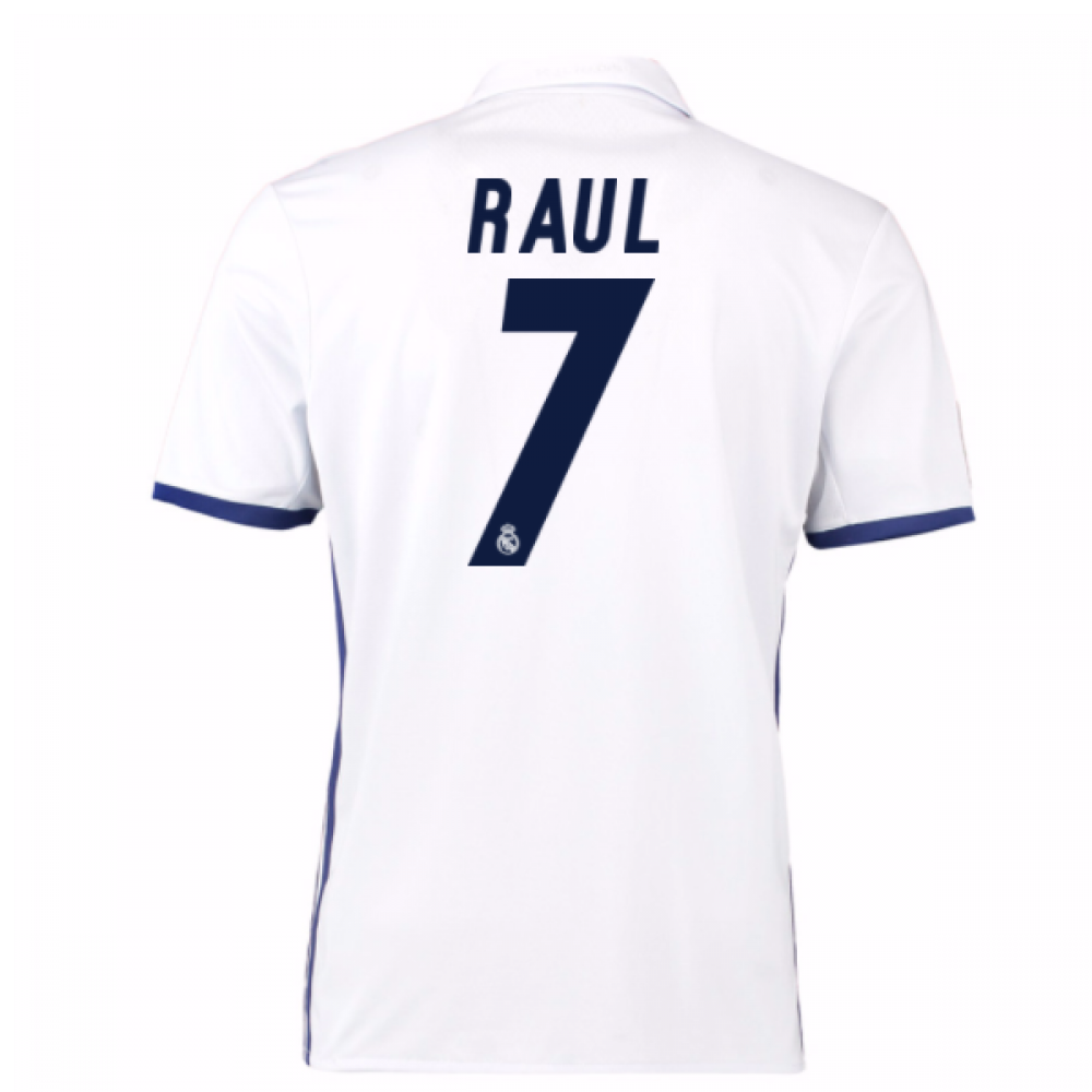 save off 1bc33 99027 2016-17 Real Madrid Home Shirt (Raul 7) - Kids