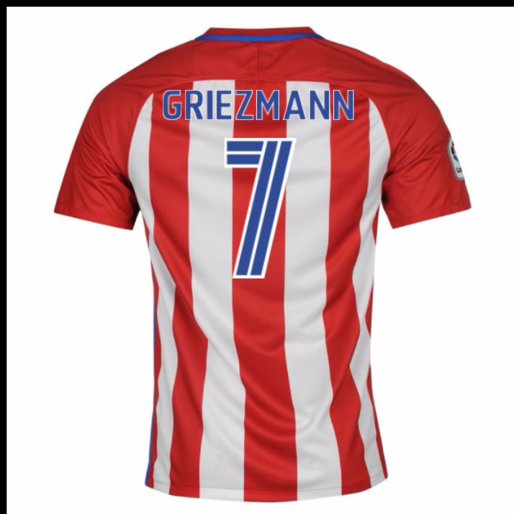 the latest 83905 a2ebf atletico madrid 7 antoine griezmann home short sleeve mens ...