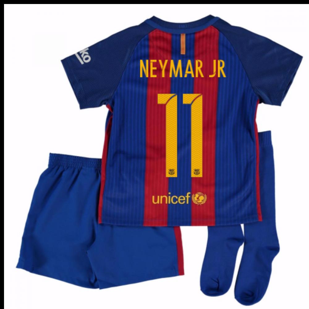 sports shoes 05802 c6d69 2016-17 Barcelona Home Mini Kit Shirt (Neymar JR 11)