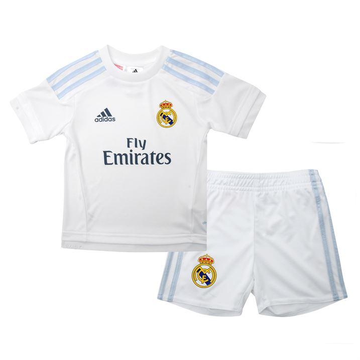 3ef0f348b49 Real Madrid 2015-2016 Home Mini Kit  S12661  -  29.04 Teamzo.com