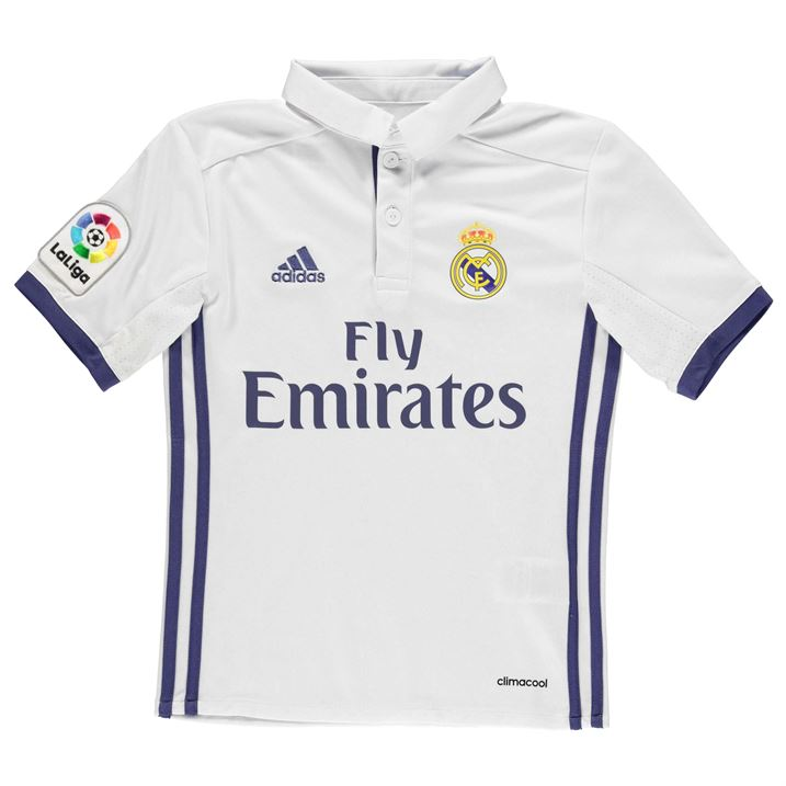 sports shoes d59f2 084e3 Real Madrid 2016-2017 Home Shirt (Kids)