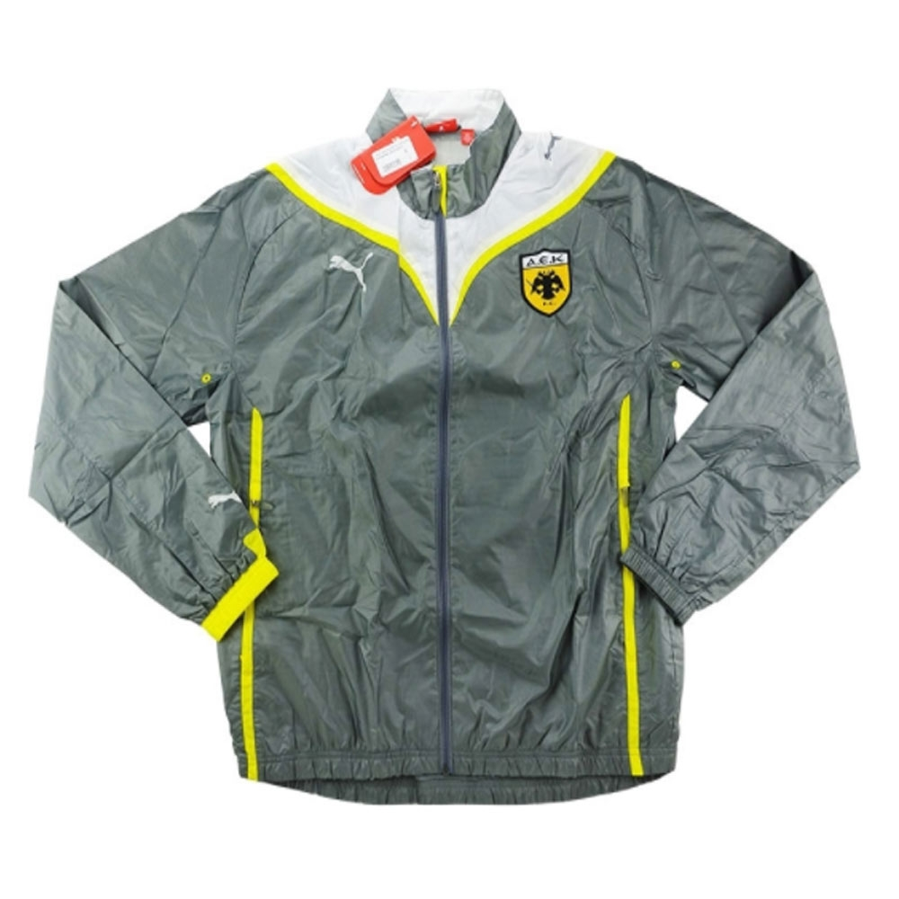 photos officielles ed56f f3f8b 2009-10 AEK Athens Puma Presentation Jacket (Grey)