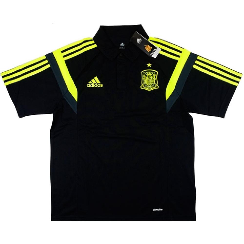 2014 15 spain adidas polo shirt black for Spain polo shirt 2014