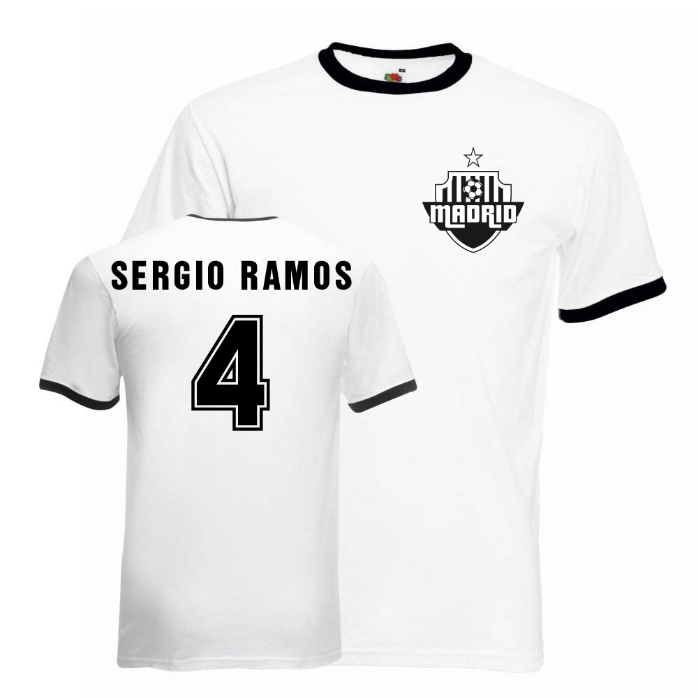 quality design 30551 d46e2 Sergio Ramos Real Madrid Ringer Tee (white-black)