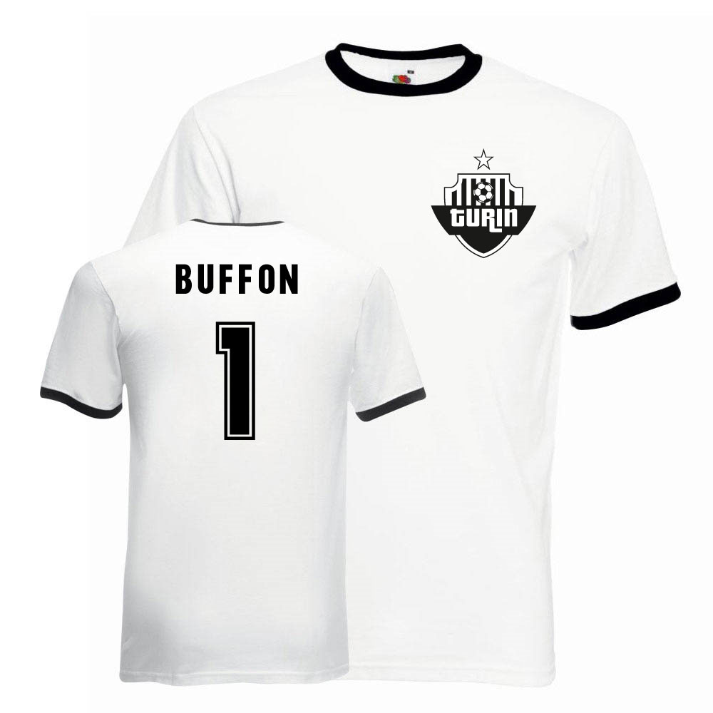 pretty nice 8538e cd472 Gianluigi Buffon Juventus Ringer Tee (white-black)