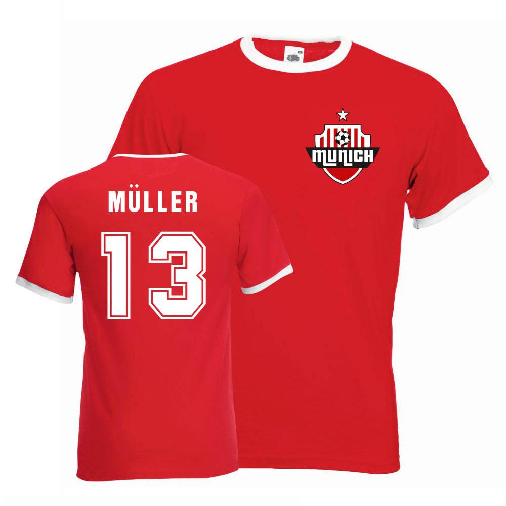 size 40 3637a 77383 Thomas Muller Bayern Munich Ringer Tee (red)