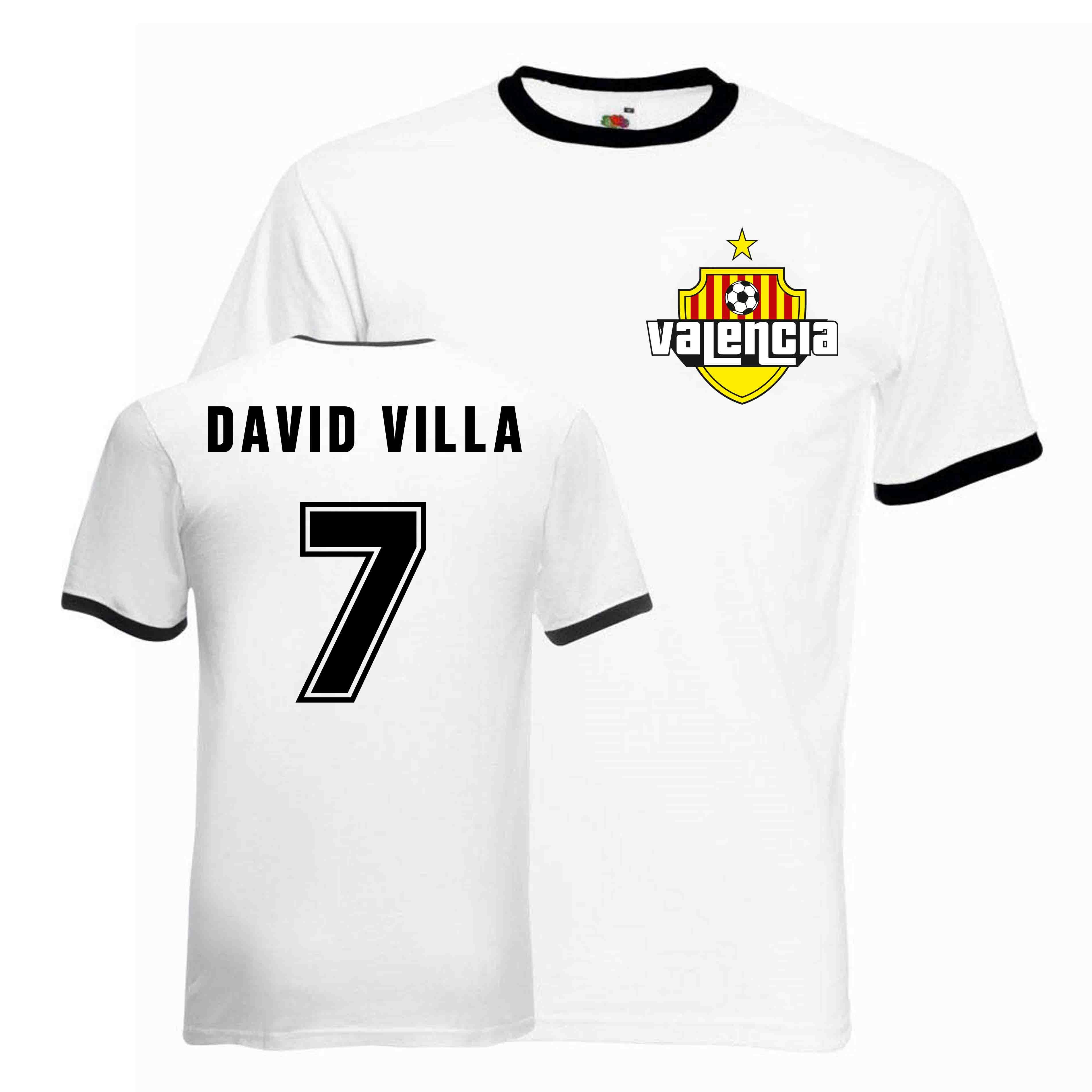 41d6cbecffb David Villa Valencia Ringer Tee (white-black)  RINGWHITEBLACK ...