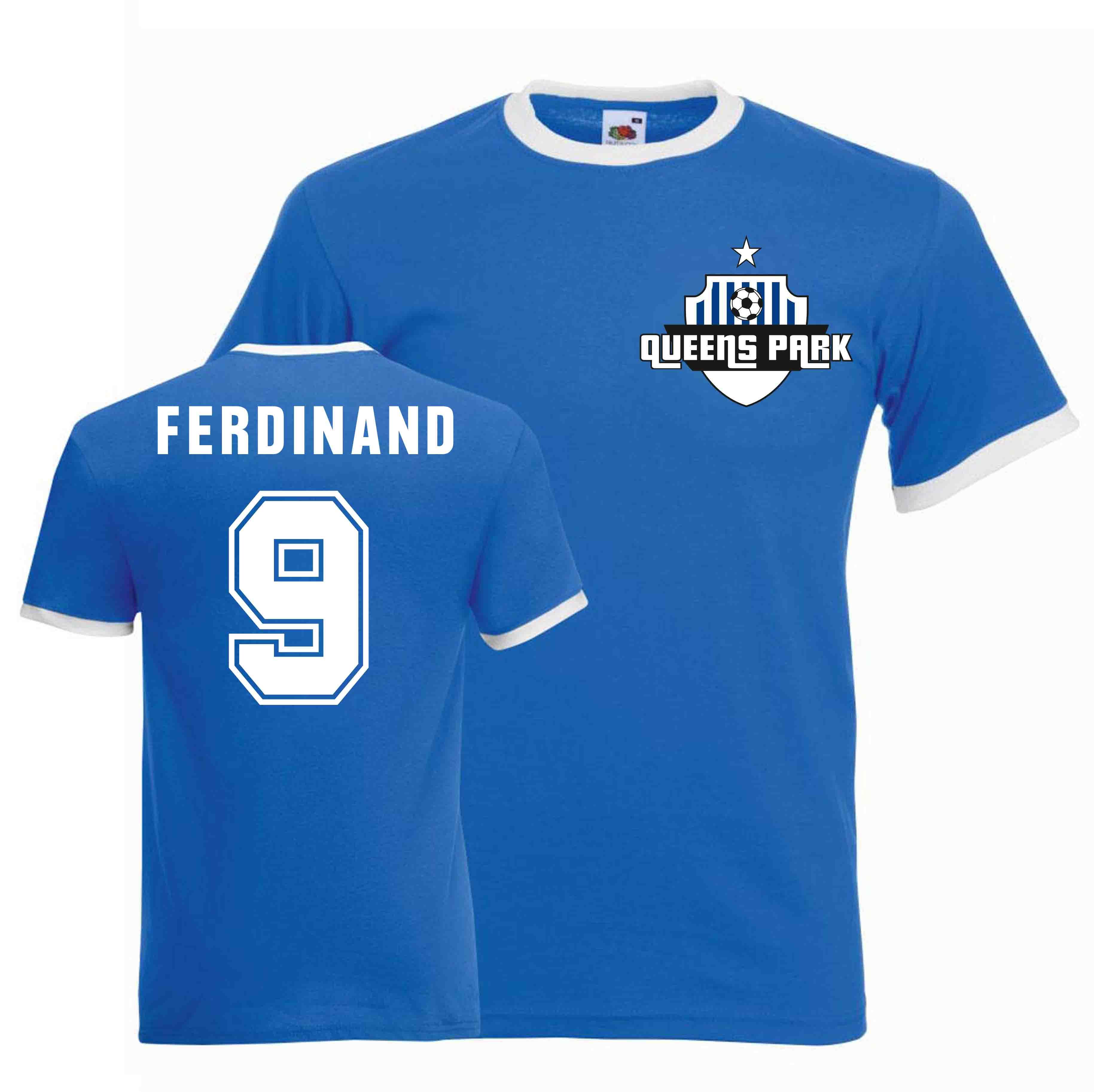big sale 3111a 85154 Les Ferdinand Qpr Ringer Tee (blue)
