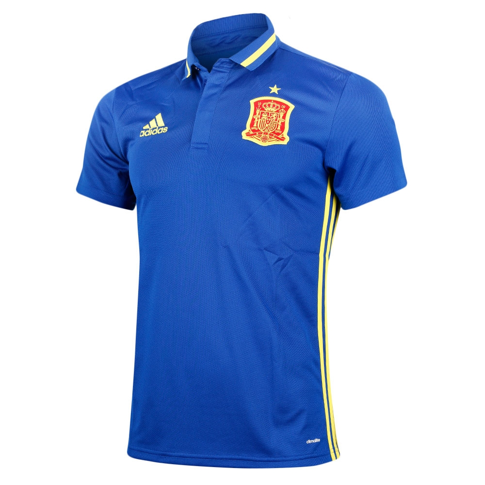 Spain 2016 2017 Climalite Polo Shirt Blue Ai4861 42