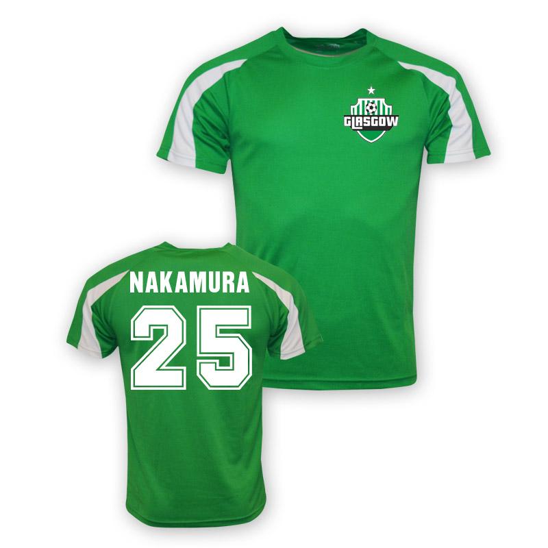 buy popular 42bde 80afb Shunsuke Nakamura Celtic Sports Training Jersey (green)