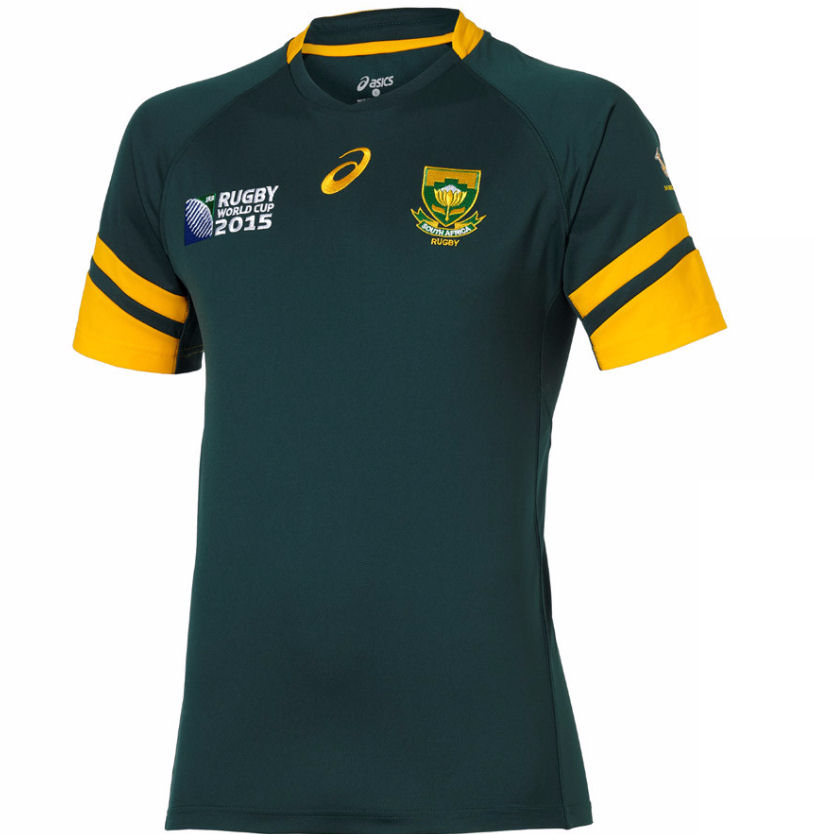South Africa Springboks 2015 Rwc Home Rugby Shirt Irb Logo Kids