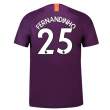 2018-2019 Man City Third Nike Football Shirt (Fernandinho 25) - Kids