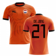 2018-2019 Holland Fans Culture Home Concept Shirt (DE JONG 21)