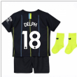 2018-2019 Man City Away Nike Baby Kit (Delph 18)