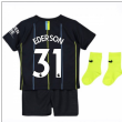 2018-2019 Man City Away Nike Baby Kit (Ederson 31)