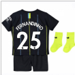 2018-2019 Man City Away Nike Baby Kit (Fernandinho 25)