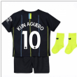 2018-2019 Man City Away Nike Baby Kit (Kun Aguero 10)