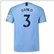 2018-2019 Man City Home Nike Football Shirt (Danilo 3)