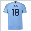 2018-2019 Man City Home Nike Football Shirt (Delph 18)